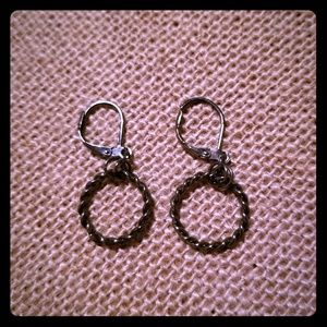 Twist Circle Dangle Earrings